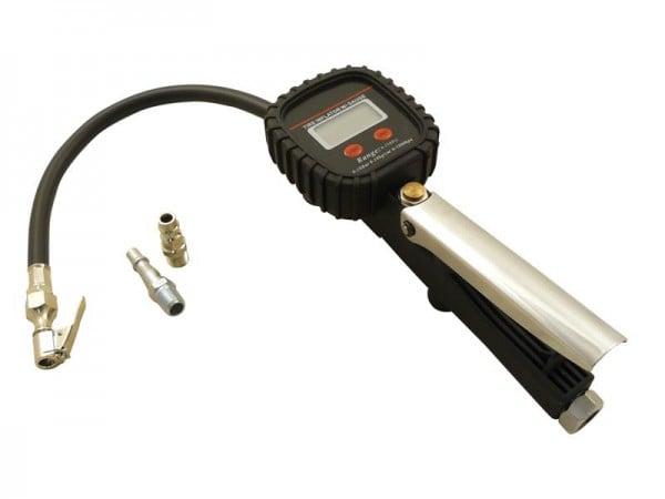 Reifenfüller Digital Druckluft 0-10 Bar LCD Anzeige 1/4 Zoll Anschluss