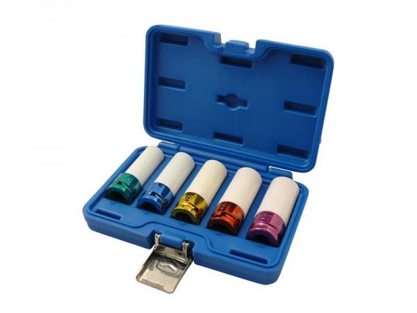 Kraft Schoneinsätze Steckschlüsseleinsätze Set 5tlg. 1/2 Zoll Antrieb