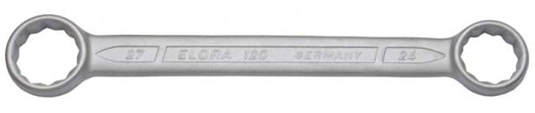 Doppelringschlüssel, gerade DIN 837, ELORA-120-21x22 mm