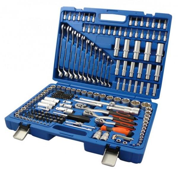 Riesen Steckschlüsselsatz 215 tlg. Knarrenkasten Werkzeug!