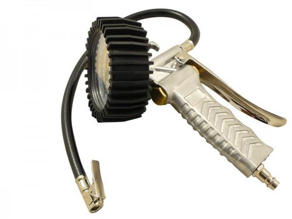 Reifenfüllpistole 0-12 bar mit 420 mm Schlauch