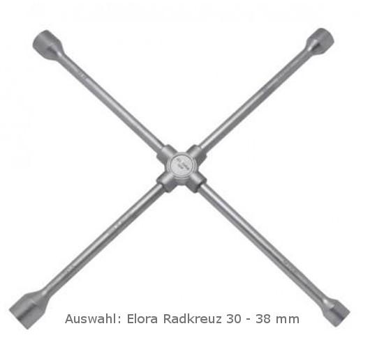 Auswahl: Radkreuz 24 mm - 38 mm Elora Zoll und Metrisch