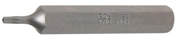 "T-Profil-Bit, mit Bohrung, 75 mm lang, T10, 3/8"""