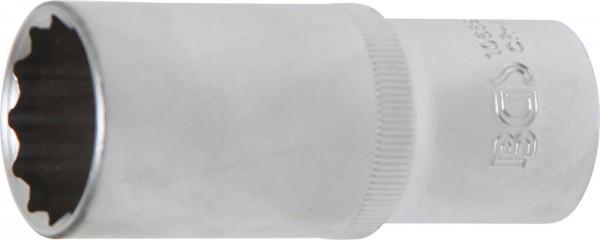 Steckschlüssel-Einsatz, tief, 12-kant, 12,5 (1/2), 24 mm