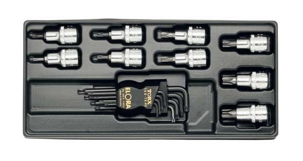 TORX®-Werkzeugsatz, 17-teilig, ELORA-MS-14