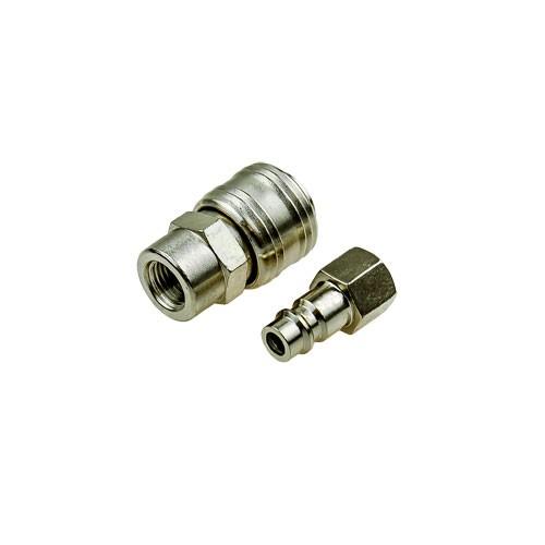 Drukluftanschluss Set 1/4 Zoll Kupplung / Stecknippel