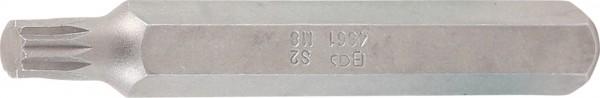 "Innenvielzahn-Bit, 75 mm lang, M8, 3/8"""