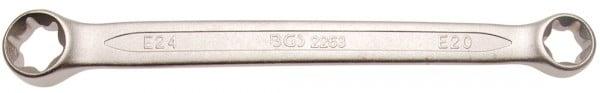 Doppel-Ringschlüssel für E-Profil-Außenschrauben, lose, E20xE24