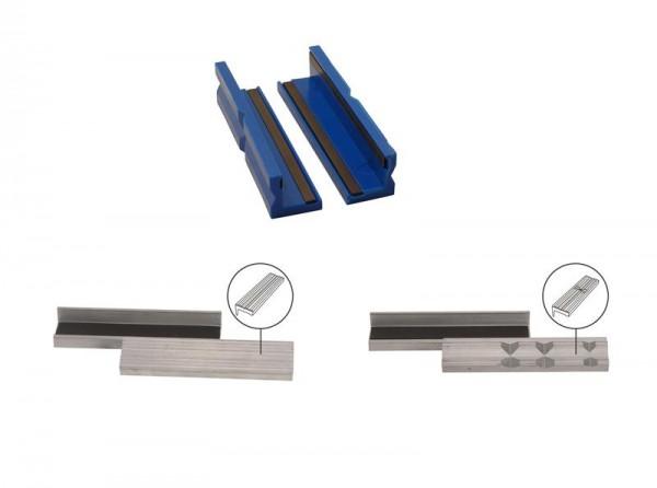 Schraubstock-Schutzbacken Aluminium / Kunststoff 125 - 150 mm 2 tlg. magnetisch