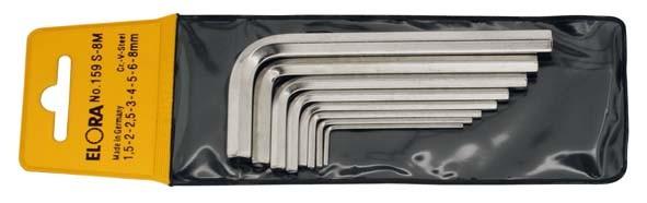 Winkelschraubendreher-Satz, 8-teilig 1,5-8 mm, mit SB-Tasche, ELORA-159S-8M