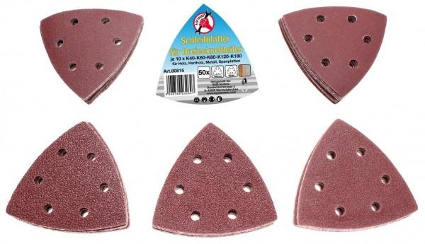 Schleifblätter für Dreieckschleifer 50-tlg.