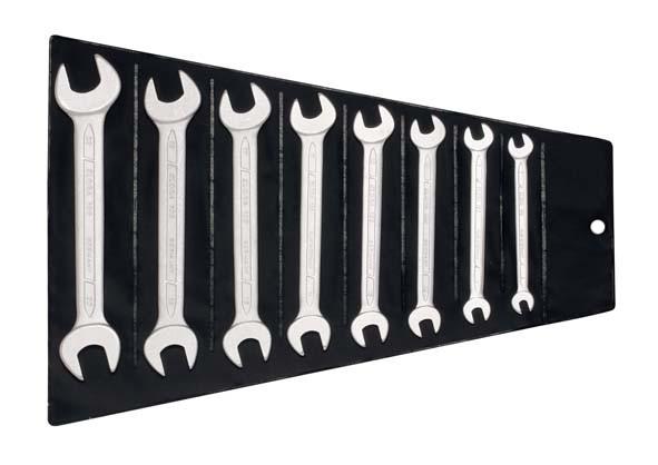 Doppelmaulschlüssel-Satz DIN 3110, 8-teilig 6-22 mm, ELORA-100S 8SBDIN