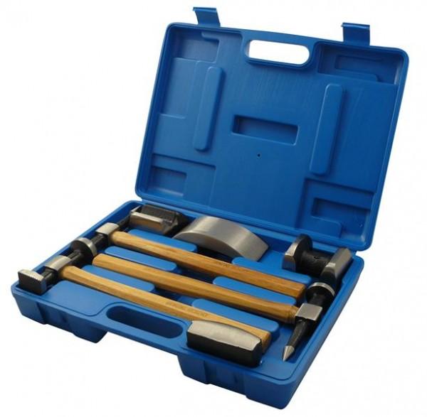 Karosserie Ausbeulhammer, Handamboss und Handfaust Set 7tlg.