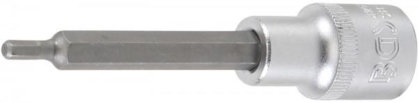 """Bit-Einsatz 1/2"""", Innen-6-kant, 100 mm lang, 4 mm"""