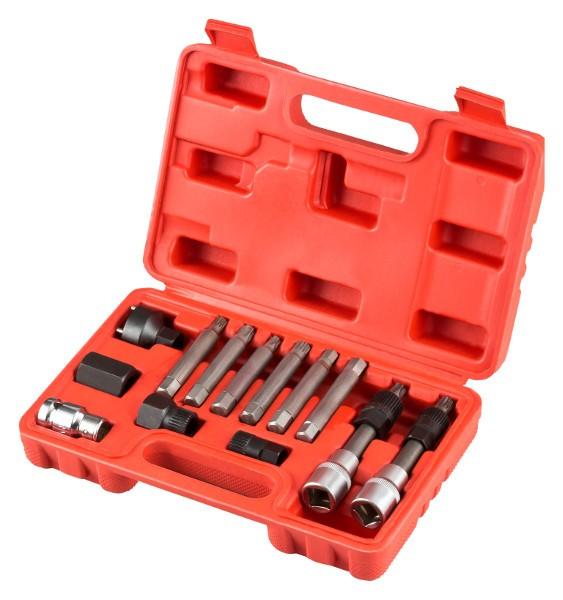 Spezial Steckschlüsseleinsätze für Lichtmaschinen Satz 13 tlg.