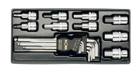 """Innensechskant-Steckschlüsselsatz 1/2"""", 18-teilig, ELORA-MS-13"""