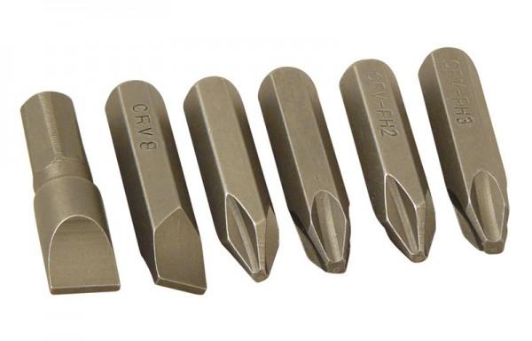 Handschlag-Schrauber Bits 8 mm Set 6 tlg.