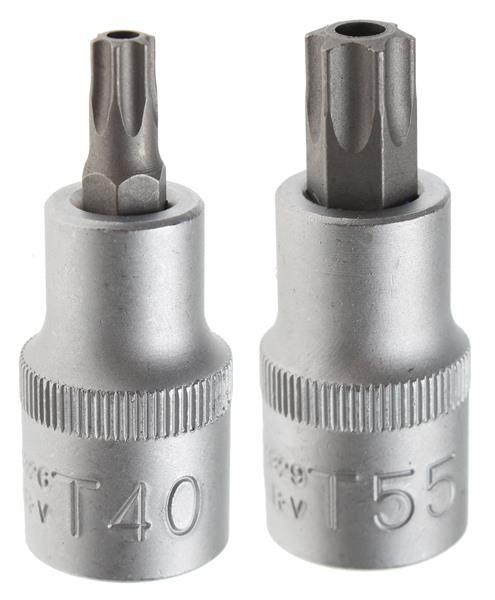 Bit-Einsatz 12,5 (1/2), T-Profil m. Bohrung T40 - T55