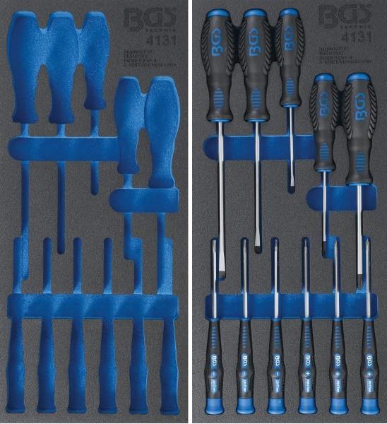 Werkzeugeinlage: Schraubendreher-Satz | 11-tlg. leer / gefüllt