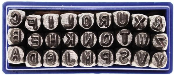 Einschlagbuchstaben, 3 mm