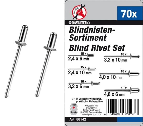 Blindnieten-Sortiment 70-tlg.
