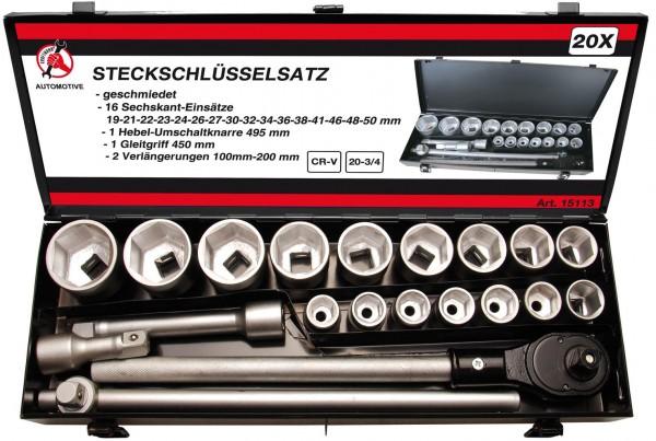 Steckschlüsselsatz 20 (3/4), 21-tlg.
