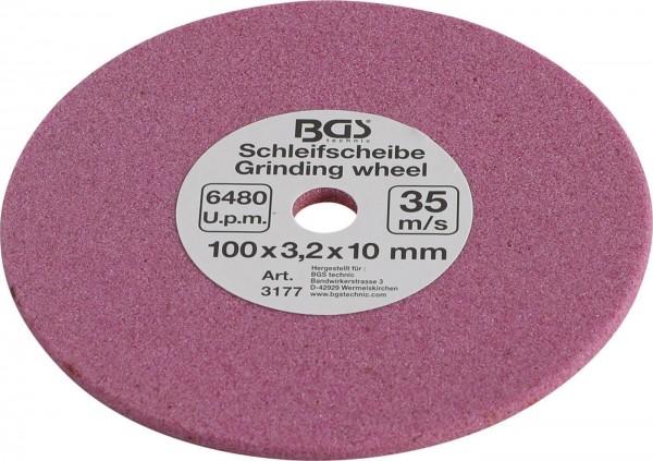 """Schleifscheibe 100x3,2x10 mm (1/4"""", 0,325"""" und 3/8"""") für Art. 3307"""
