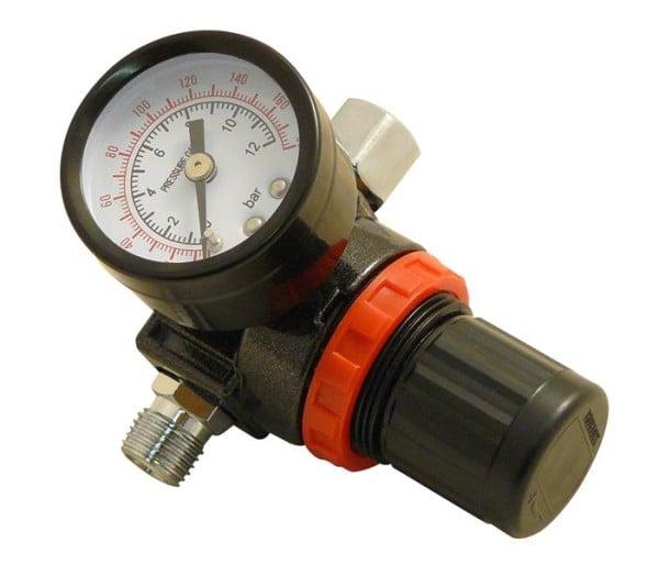 Druckluftminderer Druckluftregler mit Manometer 1/4 Zoll