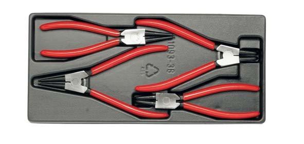 Sicherungsring-Zangensatz, 3-teilig, Modul ELORA-MS-25