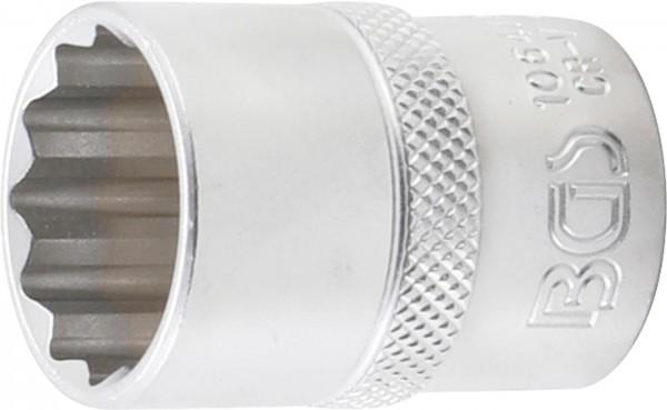 Steckschlüssel-Einsatz 12-kant, 12,5 (1/2), 21 mm