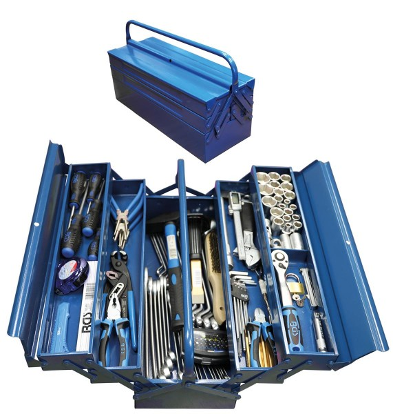 Metall Werkzeugkiste bestückt mit 137 Werkzeugen