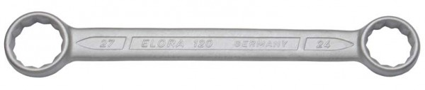 Doppelringschlüssel, gerade DIN 837, ELORA-120-22x24 mm