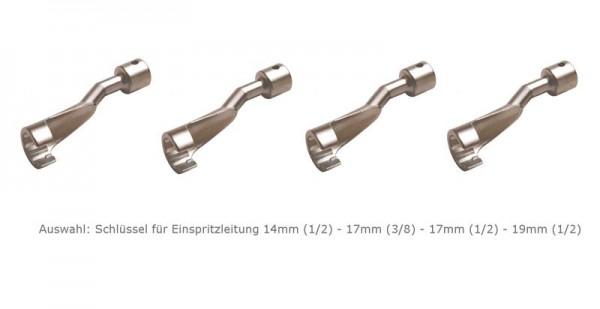 """Auswahl: Schlüssel Einspritzleitung Opel-BMW-Mercedes mit 1/2"""" oder 3/8"""" Antrieb"""