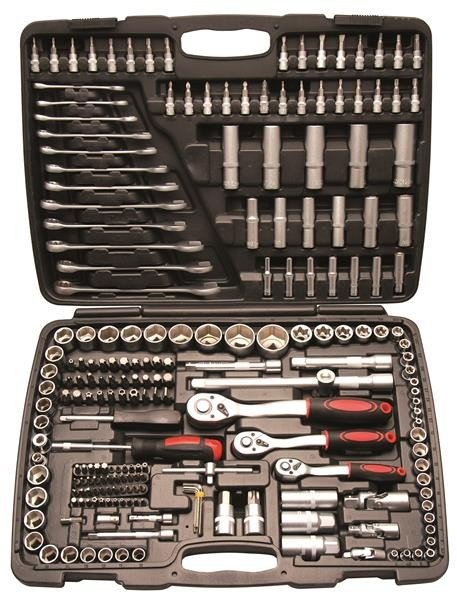 Steckschlüsselsatz, 216-tlg. 1/4 - 3/8 - 1/2 Zoll