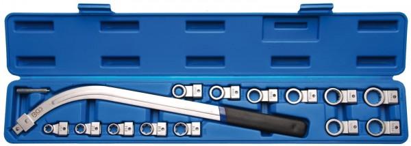 Spannrollen-Schlüssel-Satz, 12-kant 12-19 mm & E-Profil E10 - E18