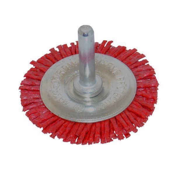 Nylon Scheibenbürsten 50 - 100 mm / Schaft 6 mm