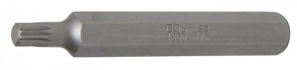 "Innenvielzahn-Bit, 75 mm lang, M6, 3/8"""