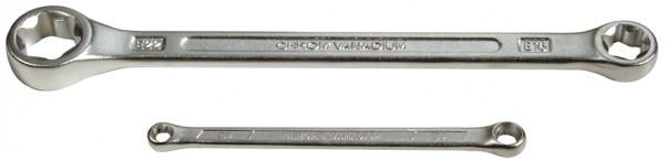 Doppel-Ringschlüssel für E-Profil-Außenschrauben, lose, E7xE11