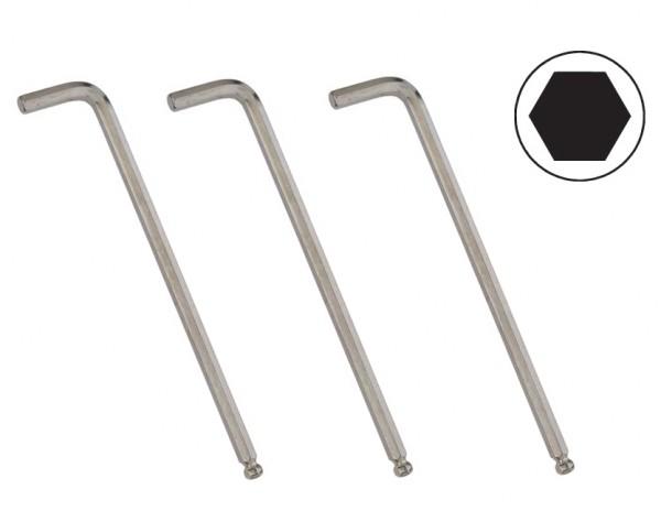 Kugelkopf-Winkelschlüssel extra lang 1/16 - 1/2 zoll Elora 159KUA